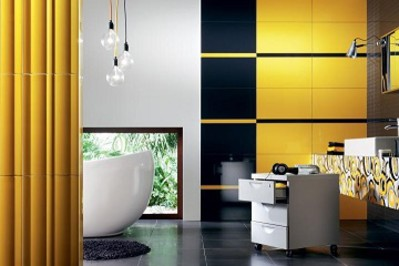Zielone i żółte łazienki – zainspiruj się wiosną!