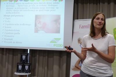 """Natalia Gniadek dla przyszłych mam - MedFood na warsztatach """"Przygoda z macierzyństwem"""""""