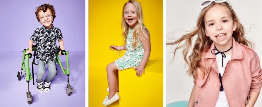 Niepełnosprawne dzieci w kampanii znanej marki odzieżowej